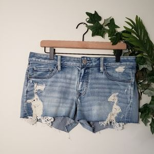 ●Express Doily Distressed Jeans Shorts